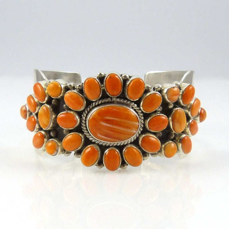 Orange Spiny Oyster Shell Cuff - Jewelry - David and Alice Lister - 2
