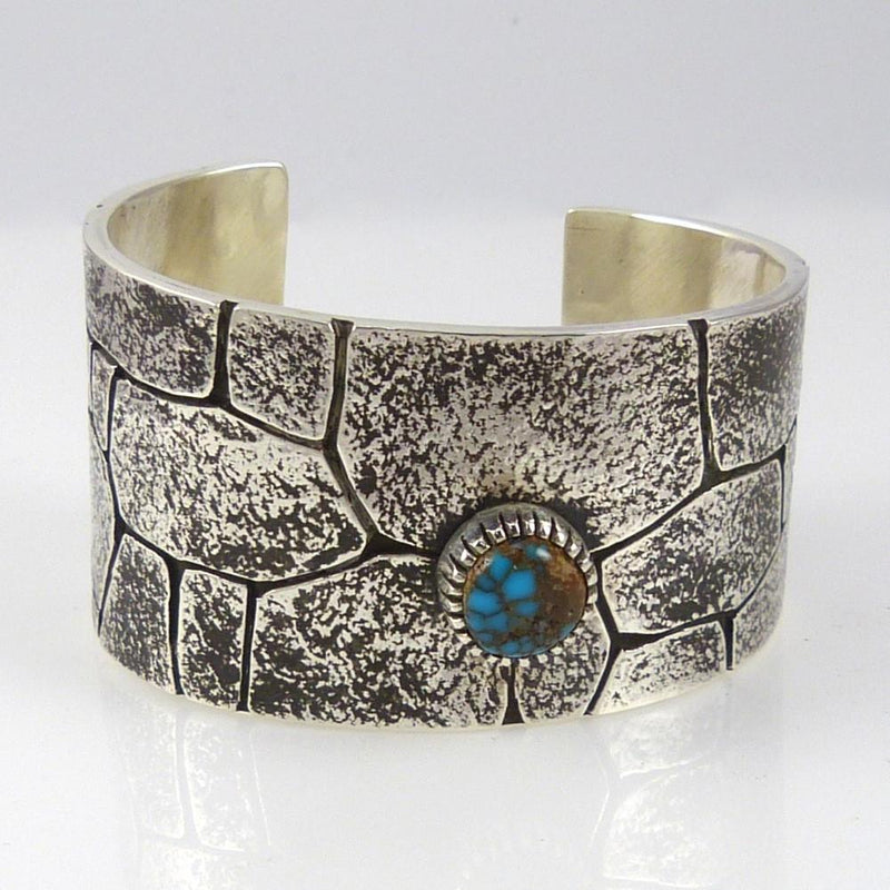 "Candelaria Turquoise ""Chaco Canyon"" Cuff - Jewelry - Kee Yazzie - 2"