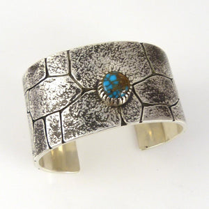 "Candelaria Turquoise ""Chaco Canyon"" Cuff - Jewelry - Kee Yazzie - 1"