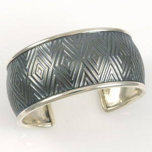 Silver Diamond Cuff - Jewelry - Pete Johnson - 1