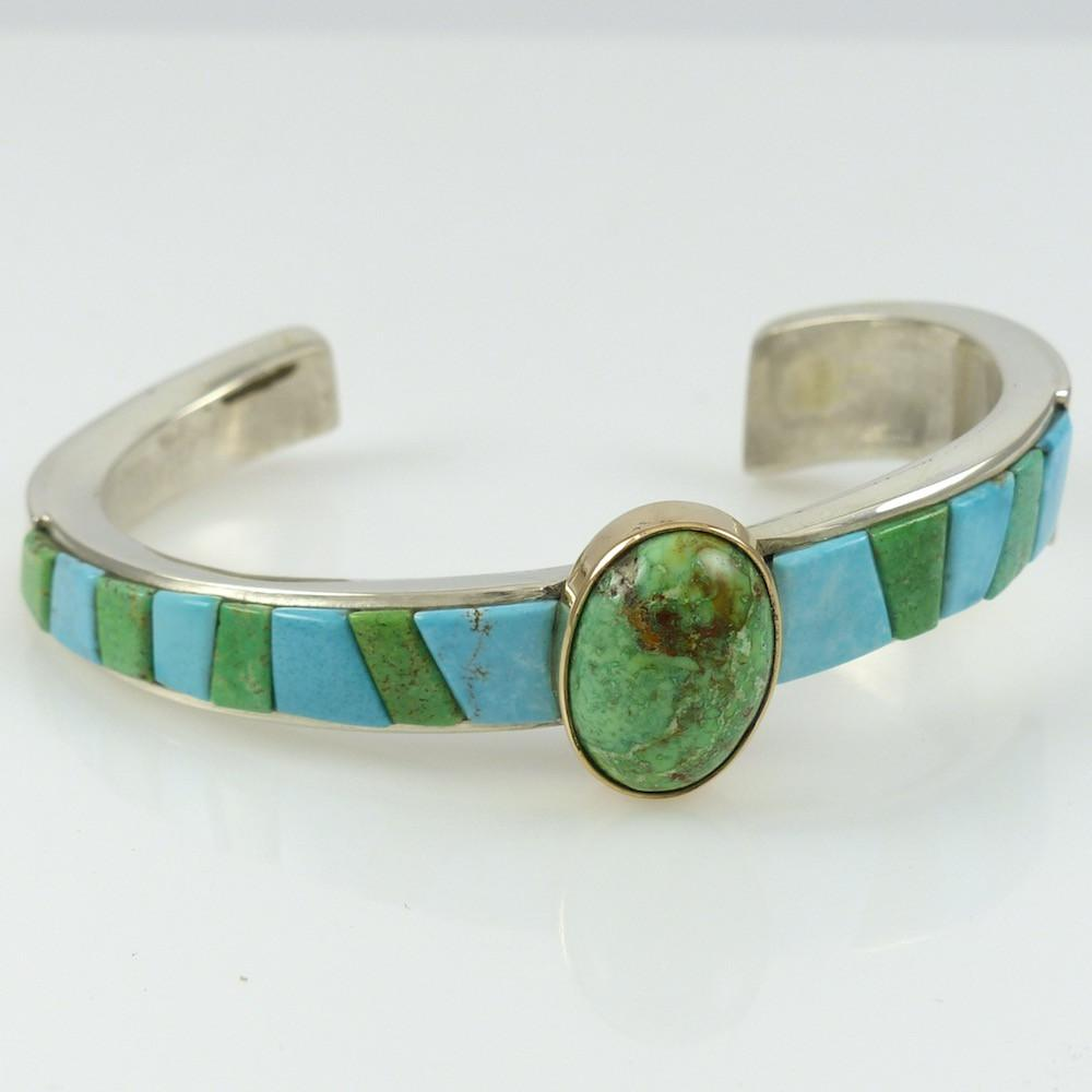 Northern Lights and Blue Moon Turquoise Cuff - Jewelry - Noah Pfeffer - 1