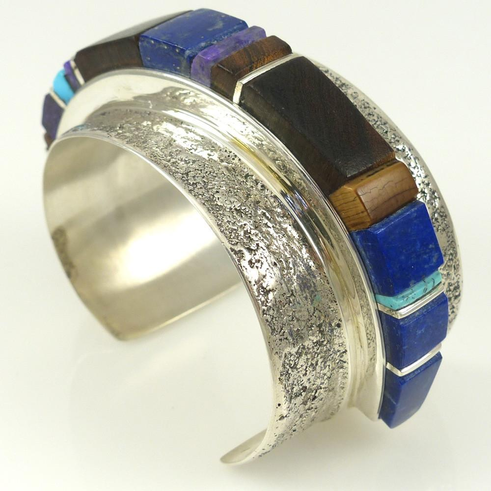 Cobbled Inlay Cuff - Jewelry - Marlin Honhongva - 1