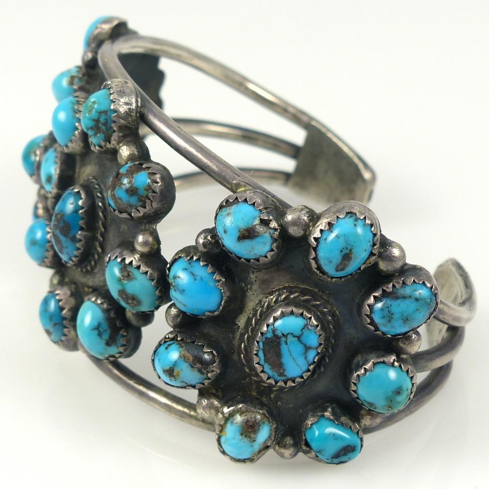Persian Turquoise Cuff - Jewelry - Vintage Collection - 1