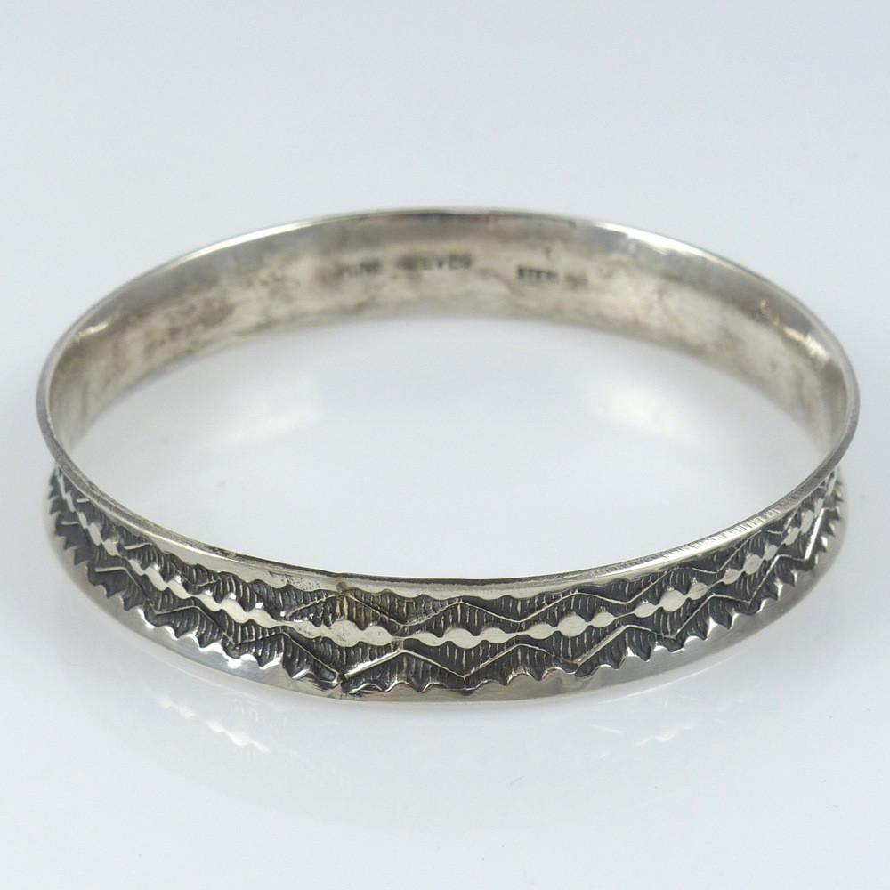 Stamped Bangle Bracelet - Jewelry - Sunshine Reeves