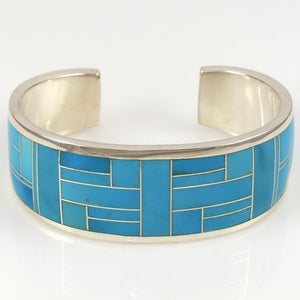 Turquoise Inlay Cuff - Jewelry - Charles Willie - 1