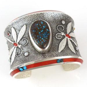Apache Blue Turquoise Cuff - Jewelry - Darryl Begay - 1