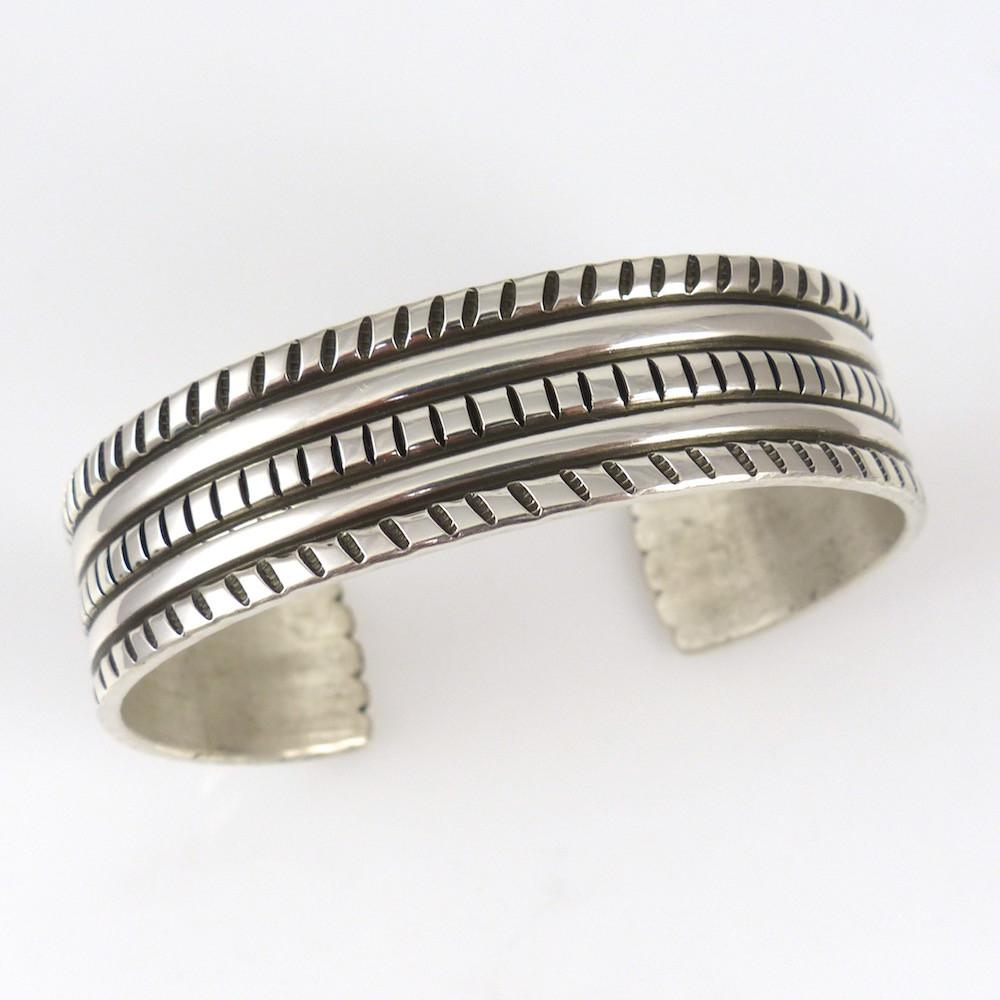 Stamped Silver Cuff - Jewelry - Darryl Begay - 1