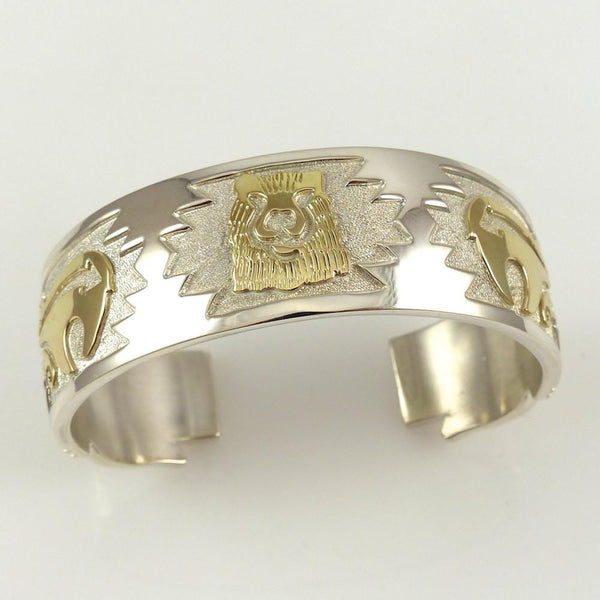 Gold on Silver Bear Cuff - Jewelry - Sean Taylor - 1