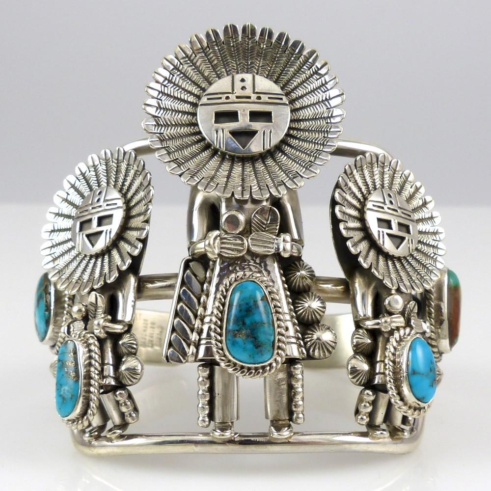 Kachina Cuff with Turquoise - Jewelry - Toby Henderson - 1