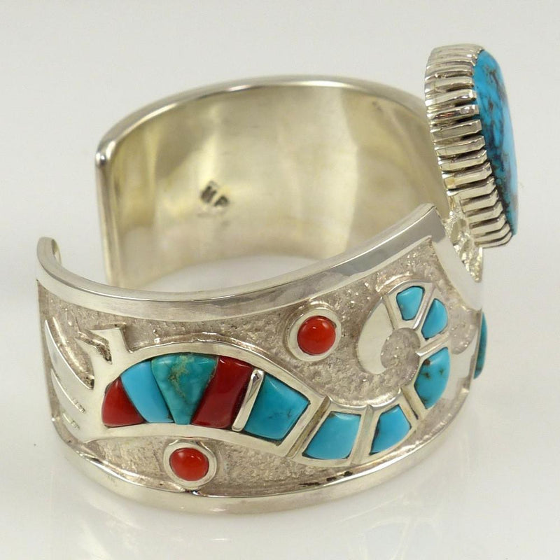 Turquoise and Coral Cuff - Jewelry - Michael Perry - 6