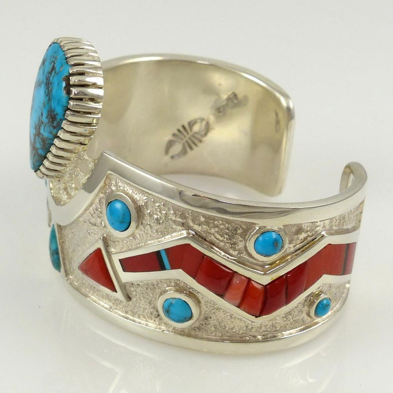Turquoise and Coral Cuff - Jewelry - Michael Perry - 5