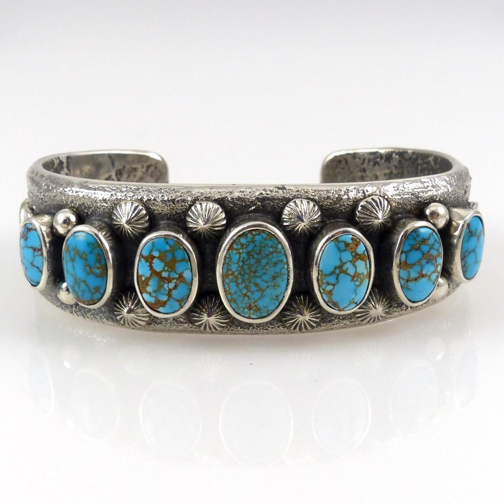 Number Eight Turquoise Cuff - Jewelry - Noah Pfeffer - 1