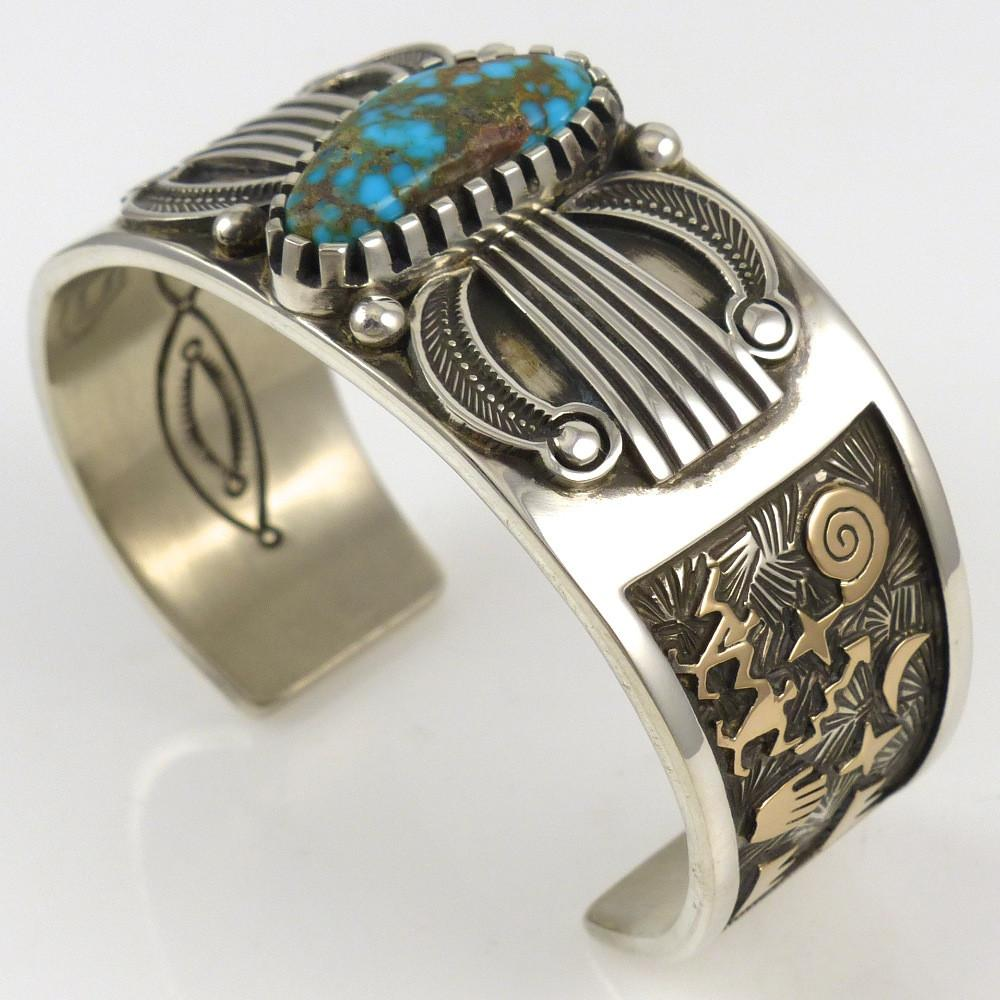 Candelaria Turquoise Cuff - Jewelry - Arland Ben - 1