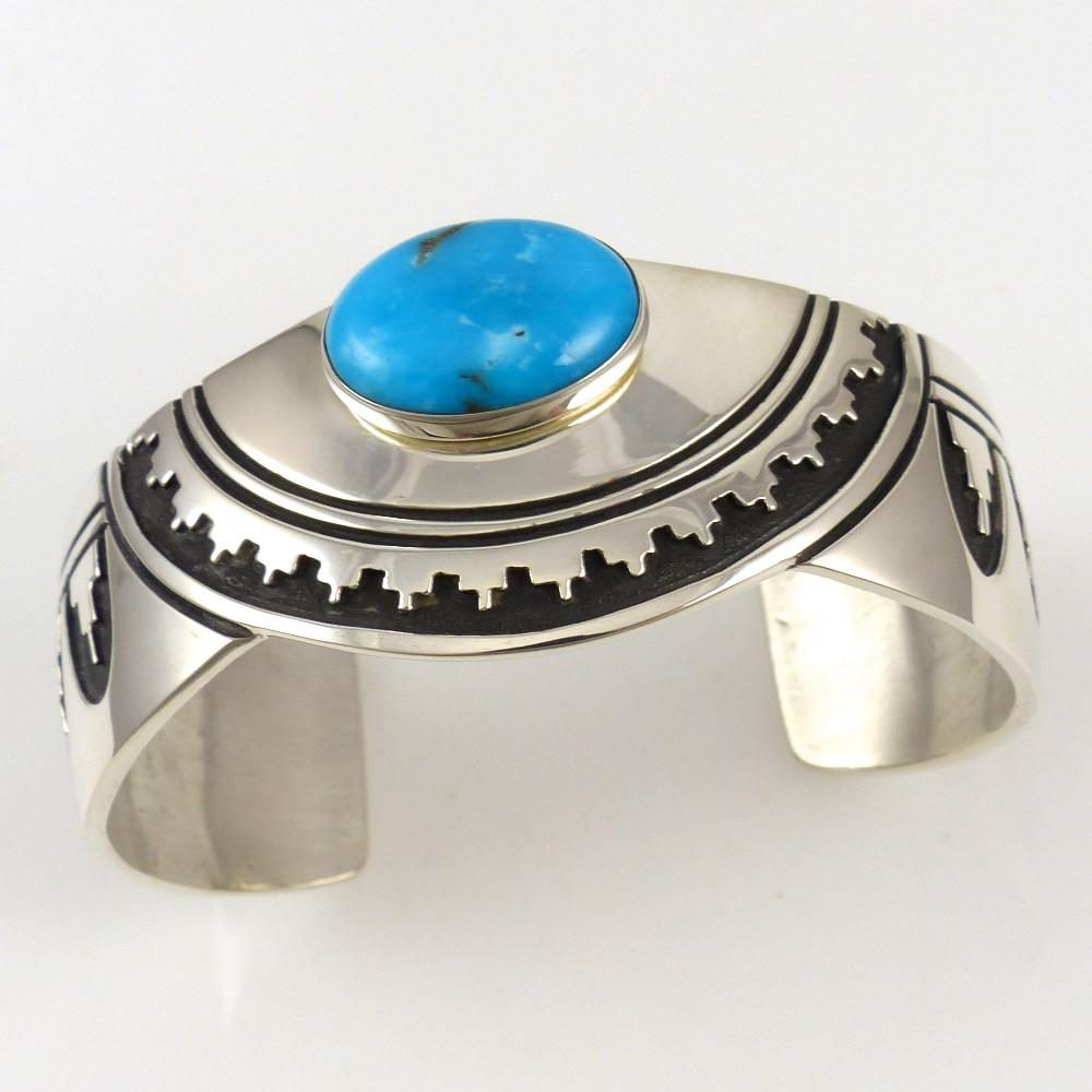 Kingman Turquoise Cuff - Jewelry - Norman Woody - 1