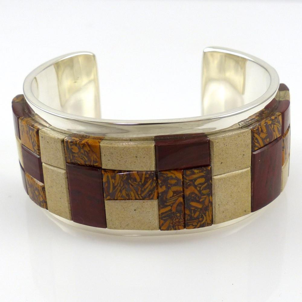Jasper Inlay Cuff - Jewelry - Tommy Jackson - 1