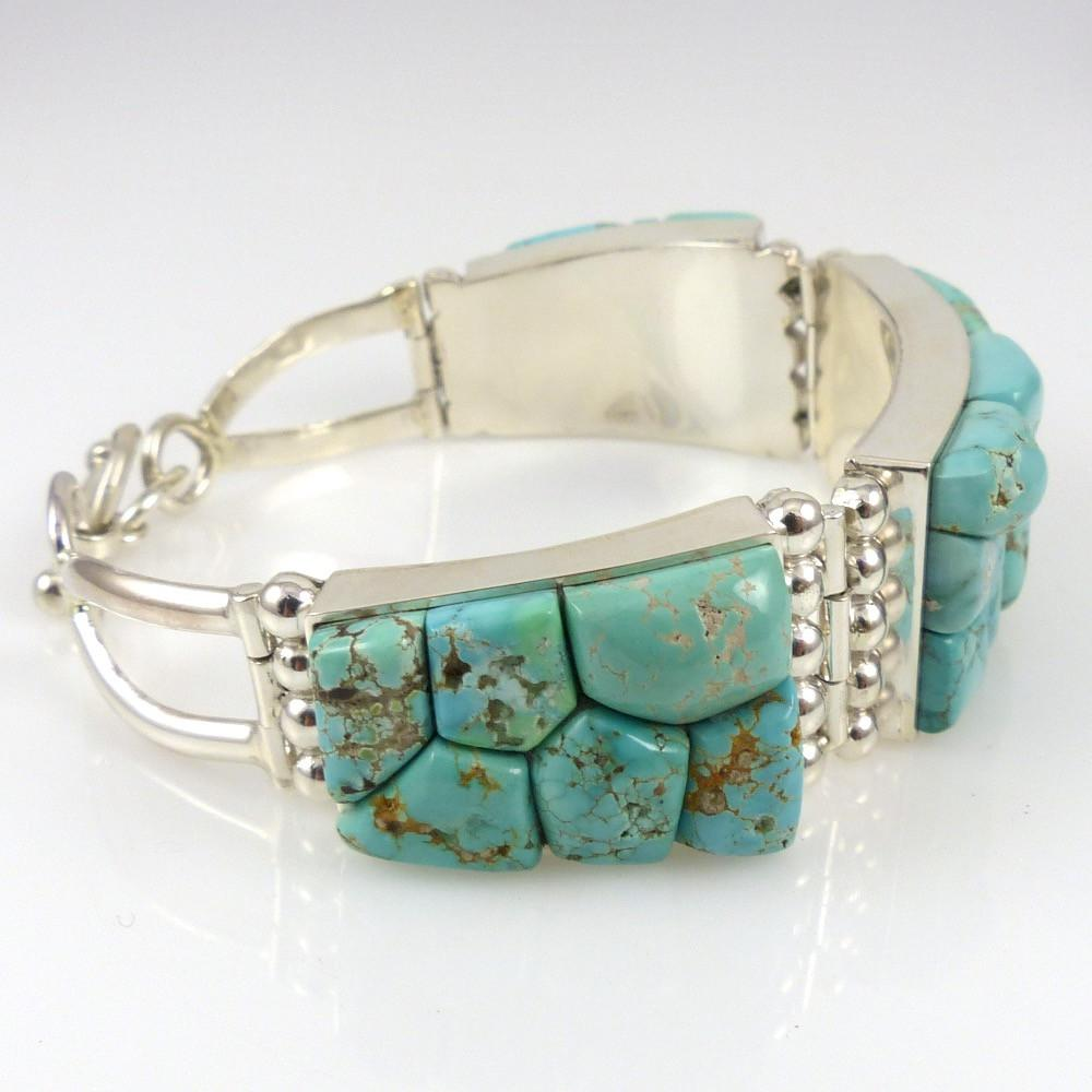 Carico Lake Turquoise Bracelet - Jewelry - Bryon Yellowhorse - 1