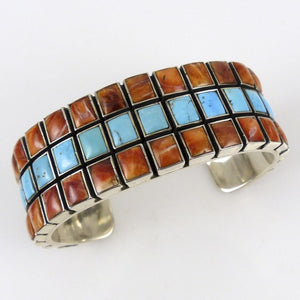 Turquoise and Spiny Oyster Shell Cuff - Jewelry - Federico - 1