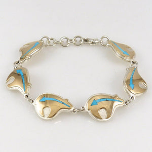 Gold on Silver Bear Bracelet - Jewelry - Sean Taylor - 1