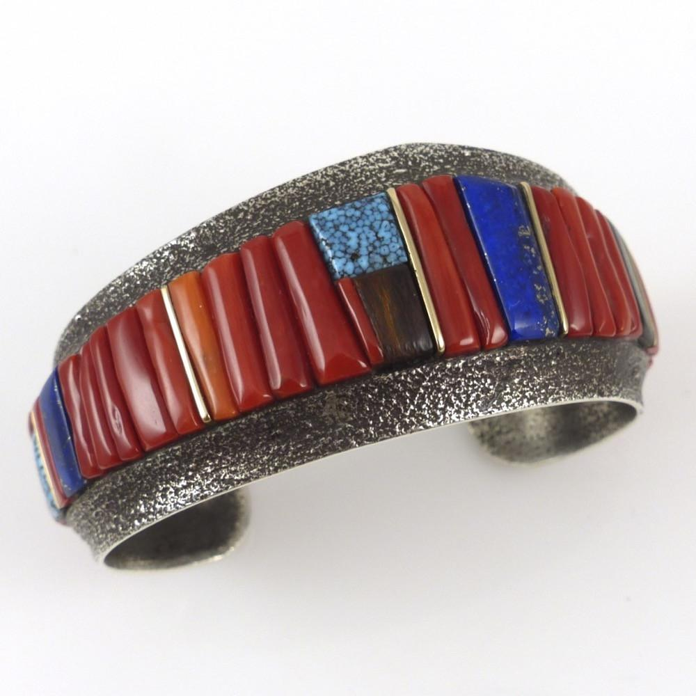 Cobble Inlaid Cuff - Jewelry - Wes Willie - 1