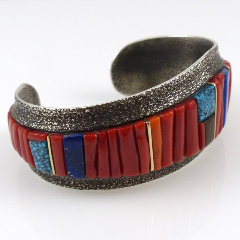 Cobble Inlaid Cuff - Jewelry - Wes Willie - 7
