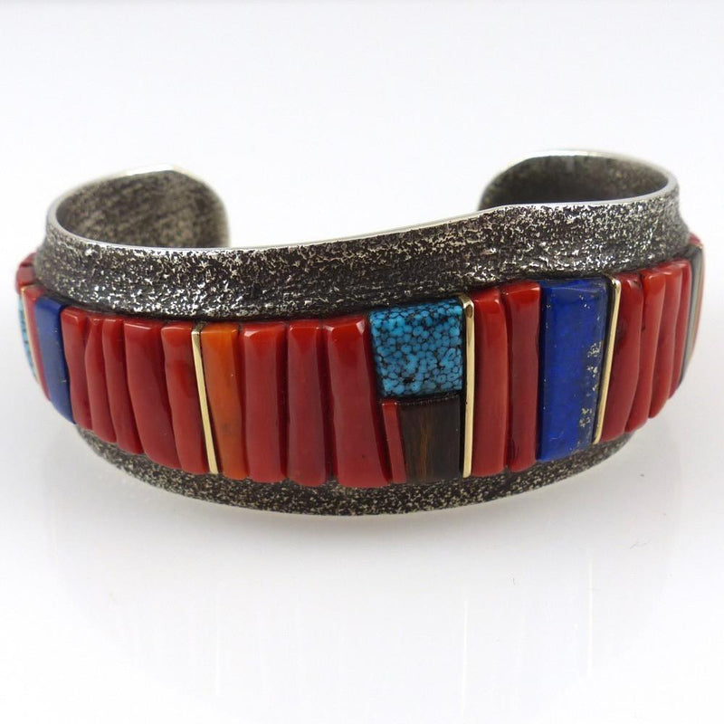 Cobble Inlaid Cuff - Jewelry - Wes Willie - 2