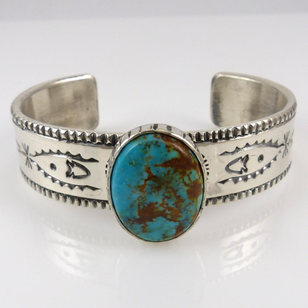 Kingman Turquoise Cuff - Jewelry - Clarissa and Vernon Hale - 1