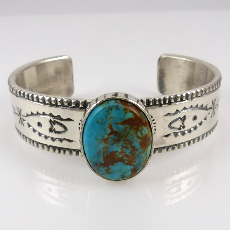 Kingman Turquoise Cuff - Jewelry - Clarissa and Vernon Hale - 2