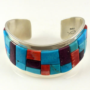 Royston Turquoise and Shell Cuff - Jewelry - Tommy Jackson - 1