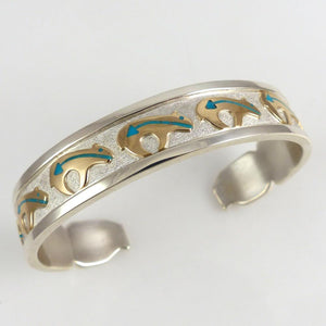 Gold on Silver Bear Cuff - Jewelry - Robert Taylor - 1
