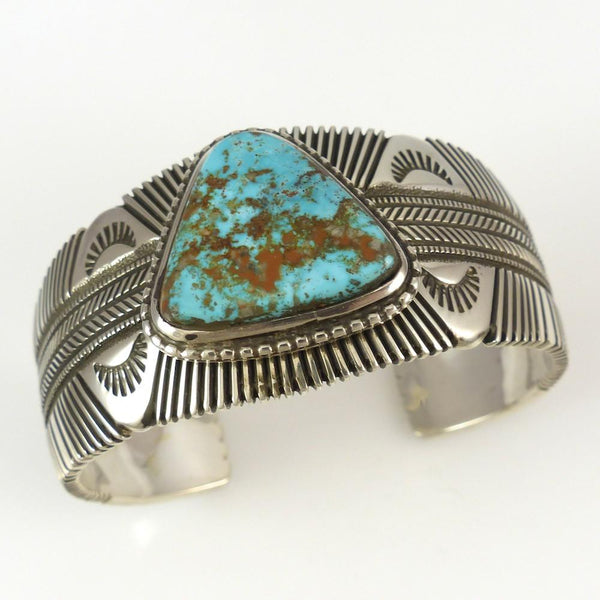 Pilot Mountain Turquoise Cuff - Jewelry - Ron Bedonie - 1