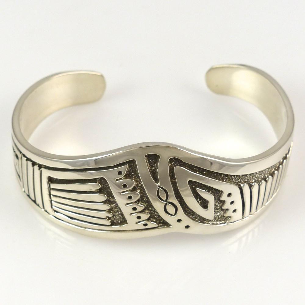 Stamped Silver Cuff - Jewelry - Sam Gray - 1