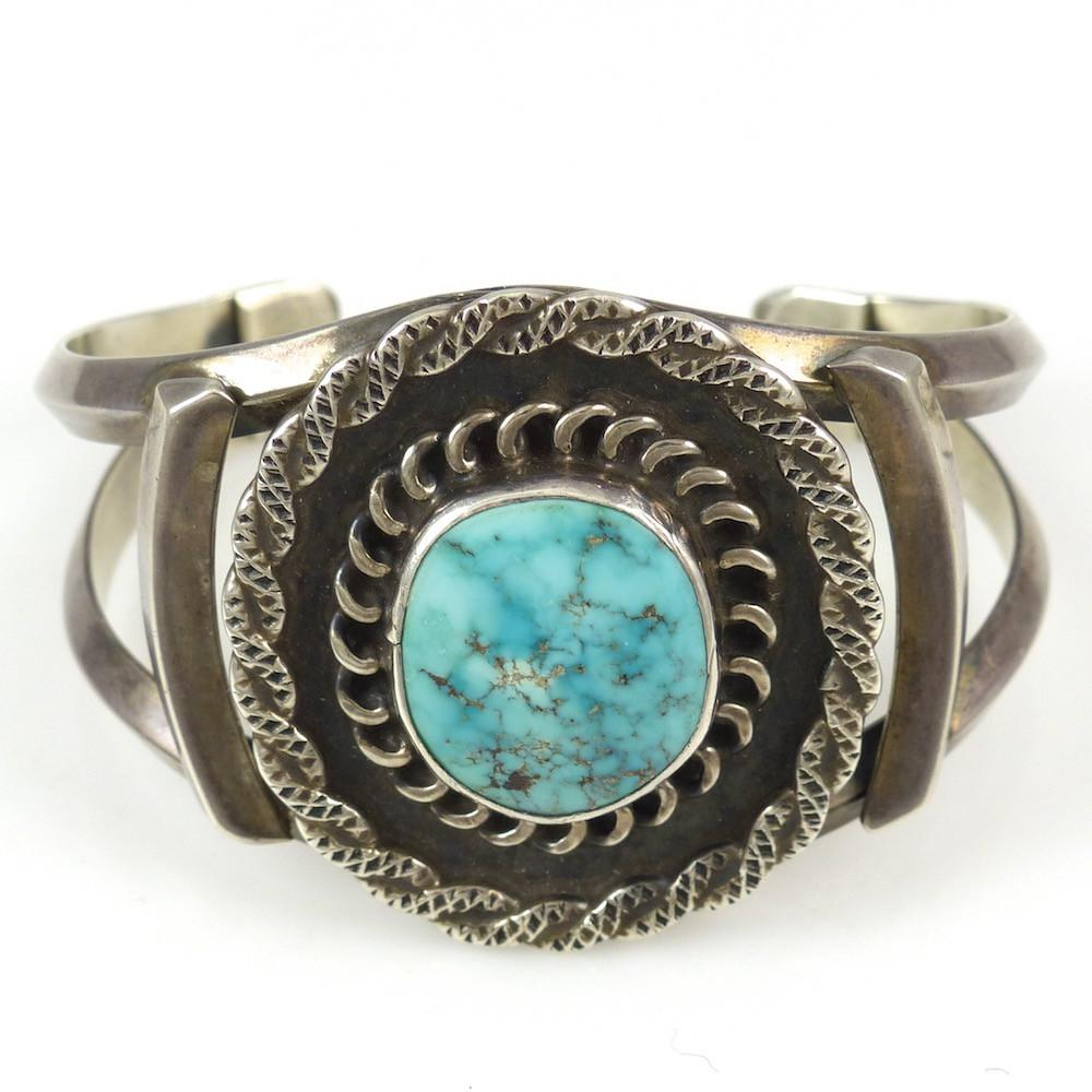 Number Eight Turquoise Cuff - Jewelry - Vintage Collection - 1