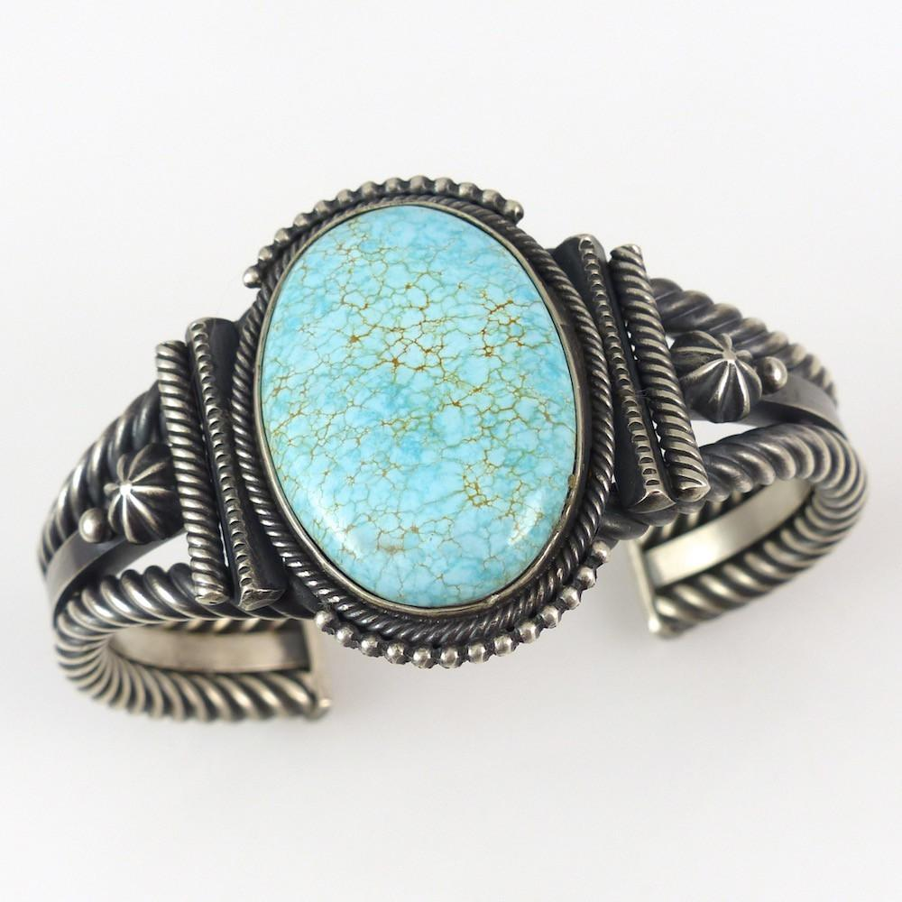 Number Eight Turquoise Cuff - Jewelry - Steve Arviso - 1