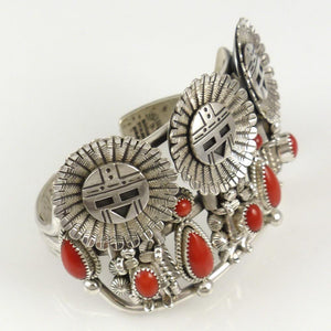 Coral Sunface Cuff - Jewelry - Toby Henderson - 1