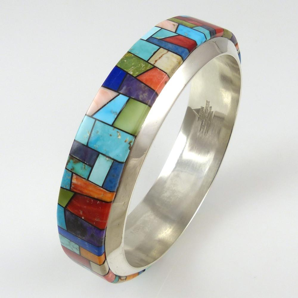 Stained Glass Bangle Bracelet - Jewelry - Bryon Yellowhorse - 1