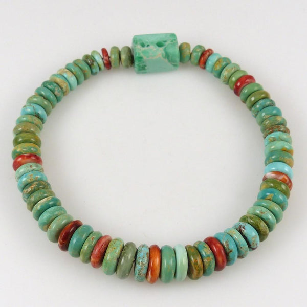Turquoise and Spiny Oyster Bead Bracelet - Jewelry - Bruce Eckhardt - 1