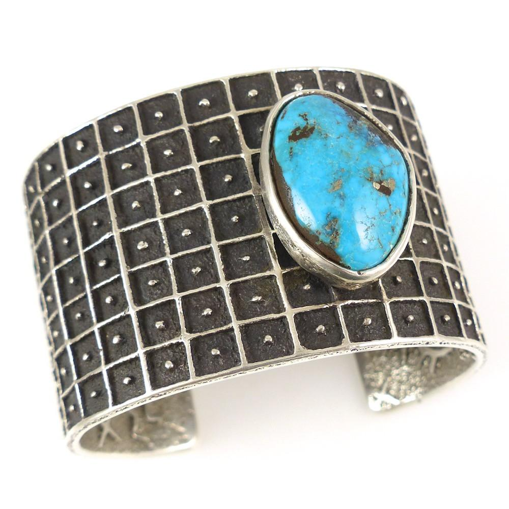 Morenci Turquoise Cuff - Jewelry - Philander Begay - 1