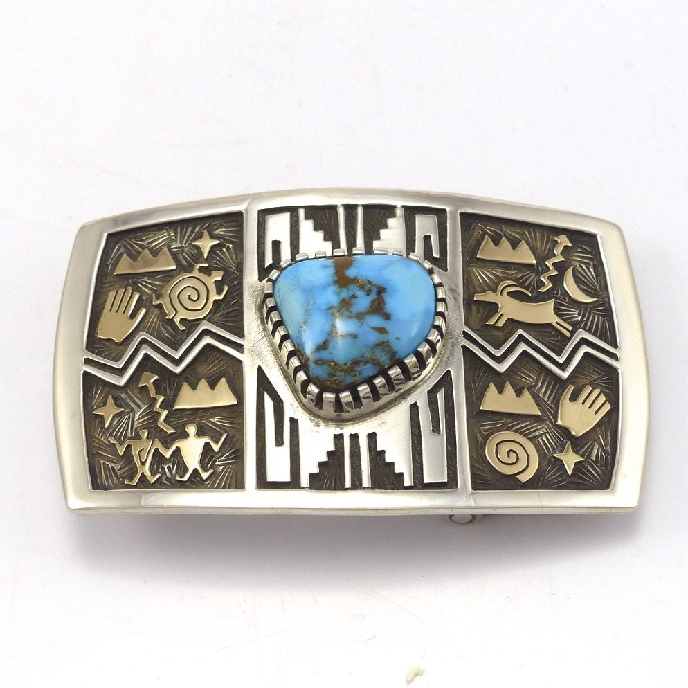 Candelaria Turquoise Buckle, Arland Ben, Jewelry, Garland's Indian Jewelry