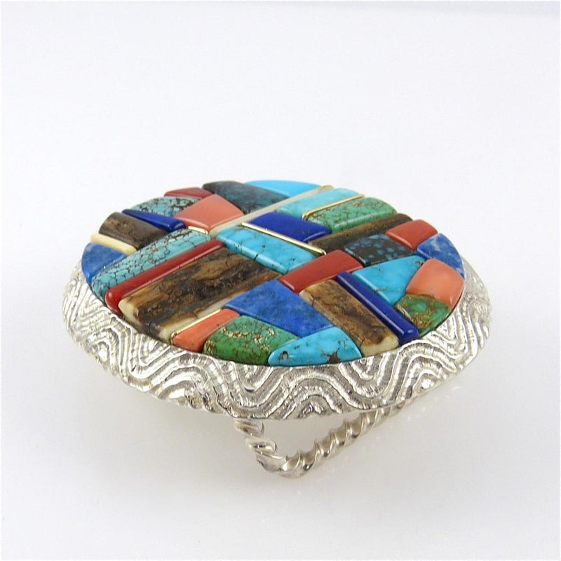 Cobbled Inlay Buckle - Jewelry - Alvin Yellowhorse - 2