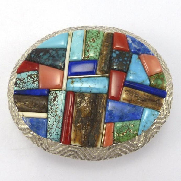 Cobbled Inlay Buckle, Alvin Yellowhorse, Jewelry, Garland's Indian Jewelry