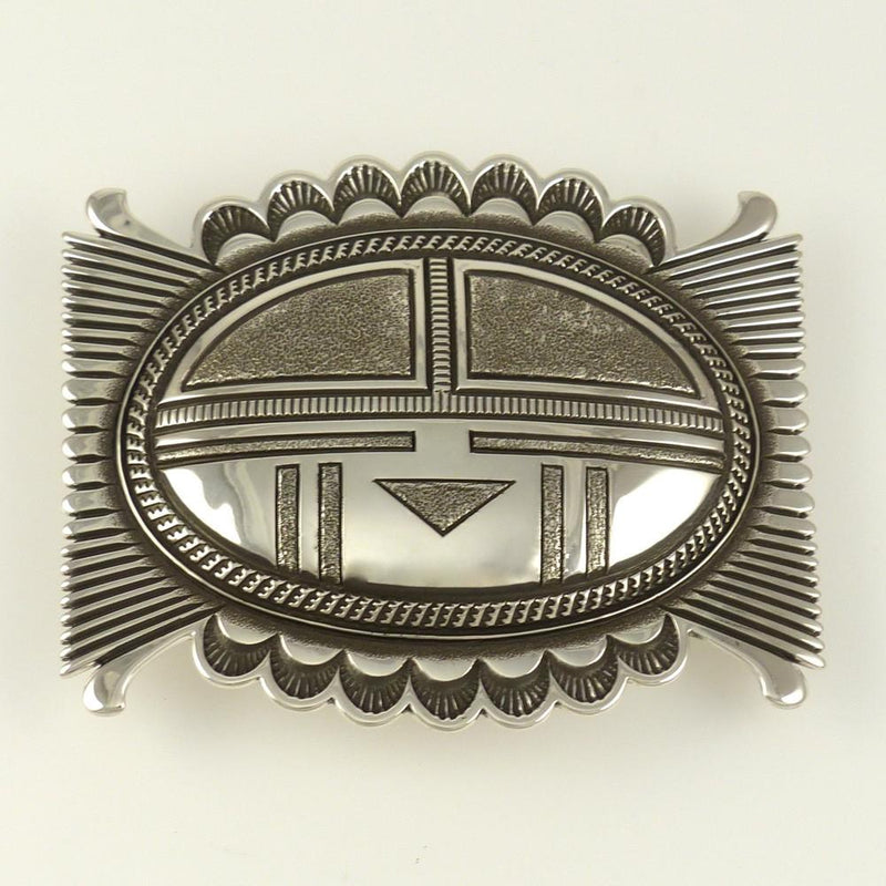 Silver Sunface Buckle - Jewelry - Ron Bedonie - 1