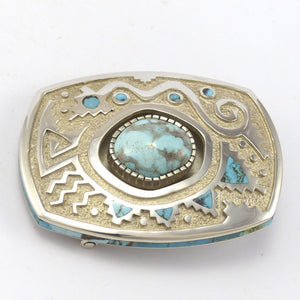Bisbee Turquoise Buckle, Michael Perry, Jewelry, Garland's Indian Jewelry