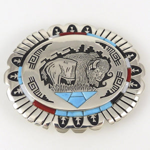Buffalo Buckle - Jewelry - Lula and Alvin Begay - 1
