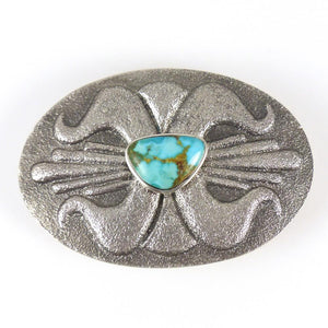 Turquoise Mountain Buckle - Jewelry - Lee Begay - 1