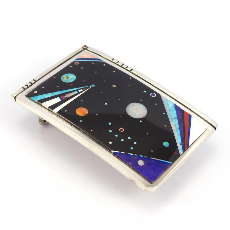 Night Sky Buckle, Jesse Monongya, Jewelry, Garland's Indian Jewelry