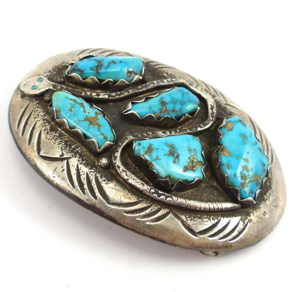 1960s Snake Buckle, Effie Calavaza, Jewelry, Garland's Indian Jewelry