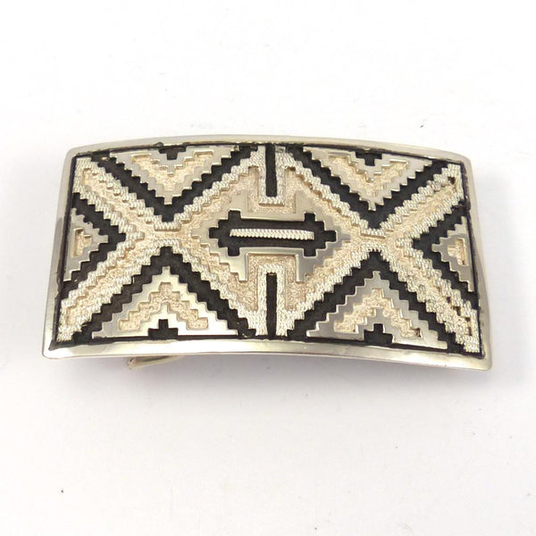 Silver Navajo Rug Buckle, Dan Jackson, Jewelry, Garland's Indian Jewelry