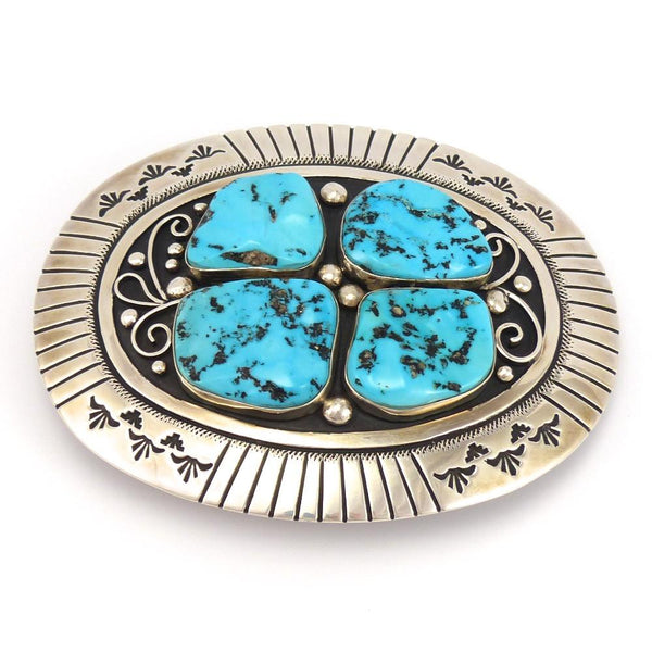 Sleeping Beauty Turquoise Buckle, Tommy Singer, Jewelry, Garland's Indian Jewelry