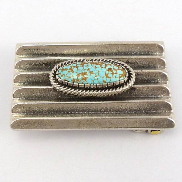 Number Eight Turquoise Buckle, Wyatt Lee-Anderson, Jewelry, Garland's Indian Jewelry