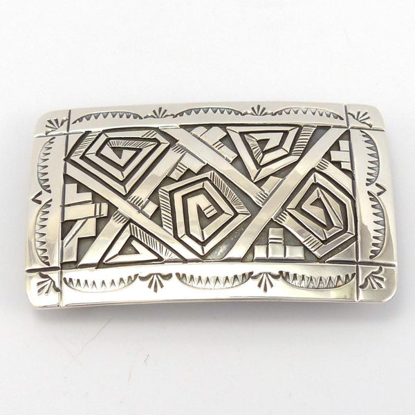 Silver Overlay Buckle, Peter Nelson, Jewelry, Garland's Indian Jewelry